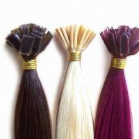 Buy cheap Prebonded Hair Extensions, U-tip/I-tip/V-tip, Fusion Human Hair Extensions/Stick Tip Keratin Hair from wholesalers