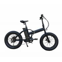 China Bafang Motor Electric Folding Bike With Fat Tires , Max Speed 35-40km/H on sale