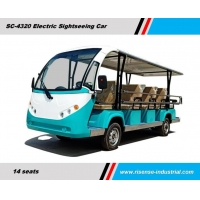 China Eco friendly Electric Tourist Sightseeing Car with vacuum tyre /Battery Operated Classic car with 11 seater on sale