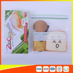 Food Stroage Plastic Sandwich Bags LDPE / Zip Up Storage Bags For Supermarket