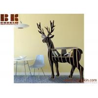 Buy cheap DIY laser cut item supplies wood reindeer arts and craft Animal bookshelf wooden craft coffee table home decor from wholesalers