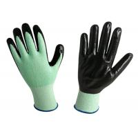 Buy cheap 15G Knitted Nitrile Exam Gloves Green Color Increased Efficiency At Work from wholesalers