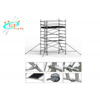 Buy cheap Lightweight Aluminium Scaffold Tower 8m For House Building With Wheels from wholesalers