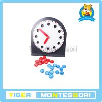 Buy cheap Montessori math materials,wooden toys,Clock with Movable Hands from wholesalers