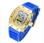 Buy cheap Fancy Silicone Wrist Watch , Metal Quartz Wrist Watch , Skeleton Watch dial Japan Movement Waterproof  Men Watch from wholesalers