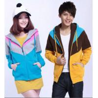 Buy cheap Zip-up Hoodies Sweatshirts , Couple Clothes , Blue Anti-Wrinkle from wholesalers