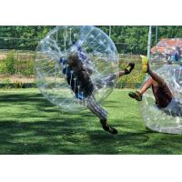 Buy cheap Safe Outdoor Inflatable Toys Children Bumper Ball , Human Hamster Ball Bubble Soccer from wholesalers