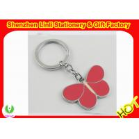 China Cheap custom promotional gifts butterfly shpaed metal keychains/keyrings on sale