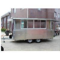 Buy cheap Stainless Steel Body Hot Dog Vending Trailers With 4 Tires ,  Mobile Cooking Trailers from wholesalers