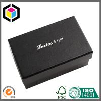 Buy cheap Fancy Black Color White Logo Gift Paper Chipboard Box; Jewelry Ring Paper Box from wholesalers