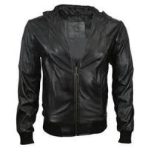 Buy cheap XL L M XXL Black mens 45% PU, 55% artificial cotton leather jackets product