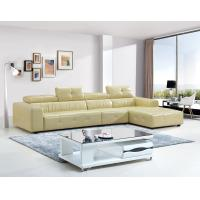 Buy cheap Geige Color Leisure Furntiure Set Wooden Leather Corner Sofa For Living Room from wholesalers