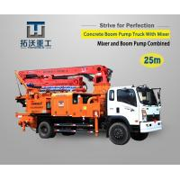 Buy cheap Mixer Combined Model Truck Mounted Boom Pump Improve Construction Efficiency from wholesalers