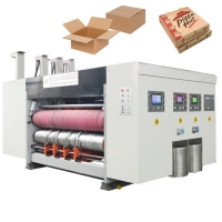 Buy cheap Plc Corrugated 7.5kw Multi Color Flexo Printing Machine from wholesalers