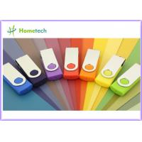 Buy cheap 1GB Swivel USB Pen Drives Logo Printing / Engraving Metal Twist USB 1.1 / 2.0 Sticks product