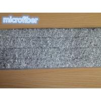 Buy cheap 13*47Cm Grey Microfiber Wet Mop Pads Woven Coral Fleece Free Hand Washing from wholesalers