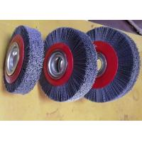 Buy cheap Deburring Gear Circular Abrasive Nylon Wheel Brush 6 Inch OD 90 Mm Middle Plate from wholesalers