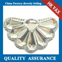 Buy cheap D0930 hot sale Fashion Wedding Dress Accessories round rhinestone beaded applique patch from wholesalers