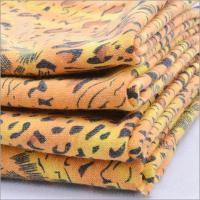 Buy cheap Rusha Textile   Tiger Skin Printed Spandex Poly Spun Single Jersey Open Weave Knit Fabric from wholesalers