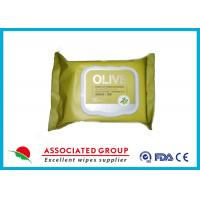 Buy cheap Olive Makeup Removal Wet Facial Cleansing Wipes Moisturizing Handbag Size from Wholesalers