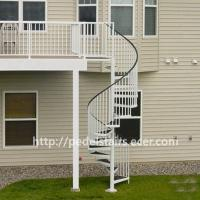 Buy cheap Export steel structure integral stair railing customized 304/316 glass guardrail from wholesalers