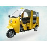 Buy cheap Gasoline Petrol Passenger Motor Tricycle With Driver Cabin And Iron Roof , Yellow from wholesalers