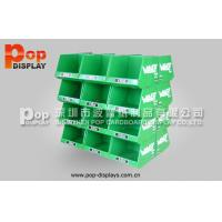 Buy cheap Green POP Fashional Cardboard Pallet Display Stand With Glossy Lamination from wholesalers
