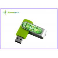 Buy cheap Customised Swivel U disk,  Twist USB Sticks With Aluminum Armor /  Light LED accept paypal 1- 64GB product