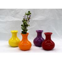 Buy cheap Home Mini Ceramic Vases And Pots Hydroponic Vase Customized Size / Color For Art from wholesalers