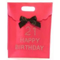 Buy cheap 250 Gram White Card Board Paper Gift Bags For Advertising With Ribbon product