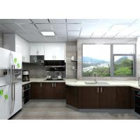 Buy cheap Modern Black / White Painting Wood Veneer Kitchen Cupboards Big Size For Home from wholesalers