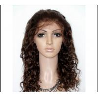 Buy cheap Glueless Full Lace Wigs Brazilian Hair No Shedding No Tangle , curly full lace wigs from wholesalers