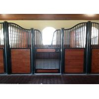 Buy cheap Portable Black Powder Coated Steel Horse Stables 3.6m 3.8m 4.0m from wholesalers