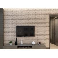 Buy cheap Khaki Color Brick Effect 3D Wallpaper Removable Vinyl Material For Sitting Room from wholesalers