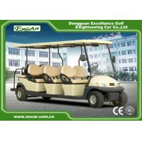 Buy cheap 48V 3.7KW 8 Seater Golf Buggy / Electric Sightseeing Car With Deep Cup Holders from wholesalers