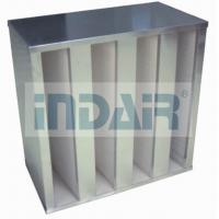 Plastic V Cell Terminal HEPA Filter , Low Pressure Drop V Bank HEPA Filter