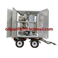Buy cheap Mobile transformer oil filtration plant, weather-proof transformer oil purification equipment mounted with car wheels from wholesalers