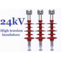 Composite High Tension Insulators , 24kv Hydrophobic Overhead Line Insulators