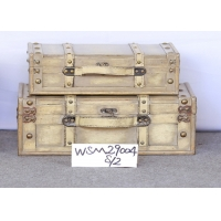 Buy cheap L40x27x14.5 Plywood Ivory Treasure Chest Storage Trunk from wholesalers