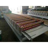 Buy cheap GI / PPGI Roof Panel Roll Forming Machine PLC Control Cold Roll Forming Process from wholesalers