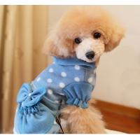 Buy cheap Cute Girl Blue Cotton Polka Dot Casual Winter Clothes For Small Dogs , PET Accessories from wholesalers