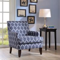 """Sany Patterned Arm Accent Chair Bedroom 29W""""*30D""""*32.25""""H Inch"""