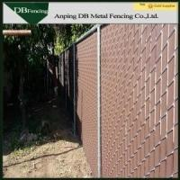 Buy cheap Low Carbon Steel Wire Chain Link Fence With PVC / HDPE Slats High Strength from wholesalers