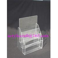 Buy cheap 3 Tier Plexiglass Poster Holder Transparent A4 A5 Acrylic Brochure Holder from wholesalers