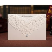 Buy cheap Unique Luxury Ivory White Laser Cut Floral Wedding Invitation Cards from wholesalers