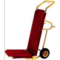 Buy cheap Titanium Plated Baggage Trolley With Rubber Wheel , 460*560*1180mm from wholesalers