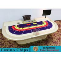 Buy cheap Macao VIP Dedicated Casino Poker Table With Standard Simulation Pu Leather Handrails from wholesalers