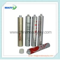 Buy cheap Soft Empty aluminum tubes for hair dying cream packing 32mm Diameter Silver color printed from wholesalers