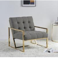 Buy cheap Contemporary Leisure Stainless Steel Swallow Gird upholstery Armchair Sofa chair for Hotel Living room from wholesalers