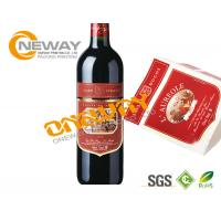 Buy cheap Liquor Plastic Bottle Roll Wine Sticker Custom Label Tags CYMK Printing from wholesalers